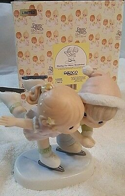 """Precious Moments 1999 """"Sharing Our Winter Wonderland"""" Porcelain Figurine #539988"""