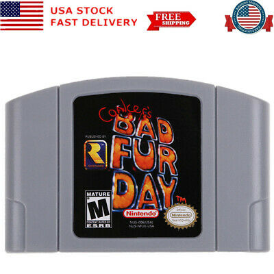 Conker's Bad Fur Day for Nintendo 64 Video Game Cartridge US Version