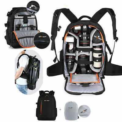 K&F Concept Camera Backpack Rucksack Waterproof with Rain Cover for Canon Nikon