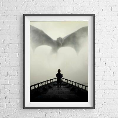 GAME OF THRONES TYRION LANNISTER DRAGON POSTER PICTURE PRINT Sizes A5 to A0 *NEW