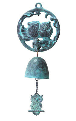 Owl Casting Door Bell _Antique Style Casting Wind Chimes _Hanging Bell