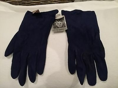 ANNE KLEIN Aries LEATHER GLOVES SIZE 7 100% SILK LINED RICH PURPLE BEAUTIFUL NEW