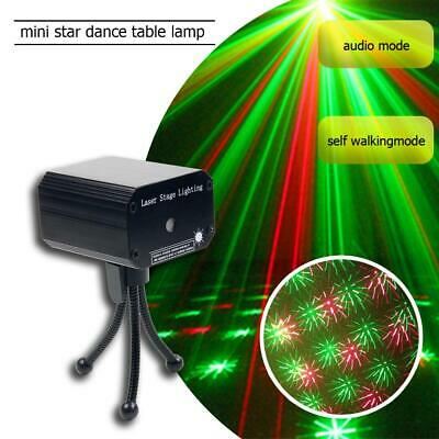 Laser Projector Stage Lights Voice-activated Mini Lighting Party Disco DJ KTV