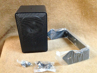 NIB Atlas Sound W130T-BK (Black) Indoor/Outdoor Mini Loundspeaker, 8 Ohm or 70V