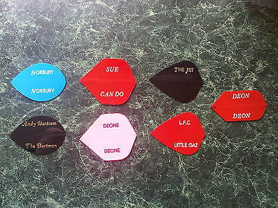 Personalised / Printed / Customised R4X Dart Text Only Flights 5 Sets