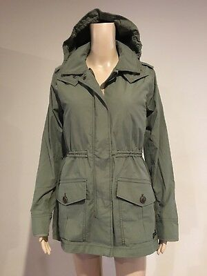 20d4dc2fd46e3 Abercrombie & Fitch Womens Olive All Weather Hooded 2-in-1 Parka Jacket M