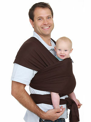Authentic MOBY WRAP Infant , Baby, Carrier, Sling-Original Collection-CHOCOLATE