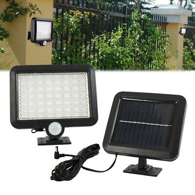 Solar Powered PIR Motion Sensor Outdoor Garden Light 56 LED Security Flood Lamp