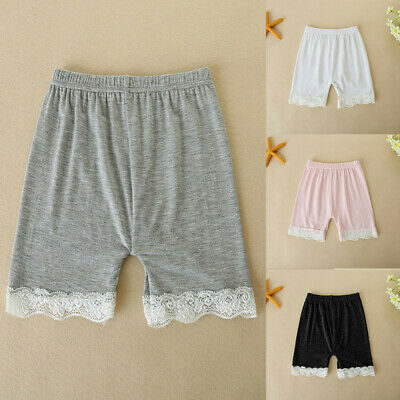 Toddler Children Kid Baby Girls Solid Lace Safety Pants Shorts Underwear Clothes
