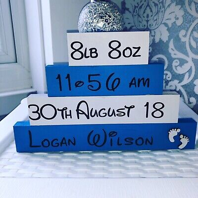 Keepsake Baby Stack Blocks Personalise Gifts