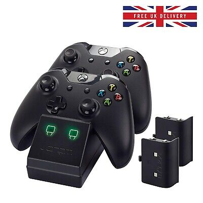 Xbox One Twin Charging Cradle Battery Packs Wireless Controllers Docking Station