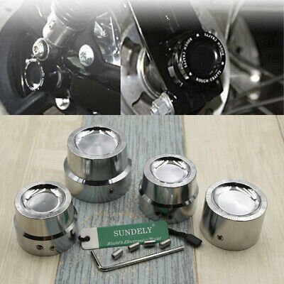 Silver CNC Aluminum RC Front Rear axle Cover Cap Nut Harley Blackline FXS 11-13
