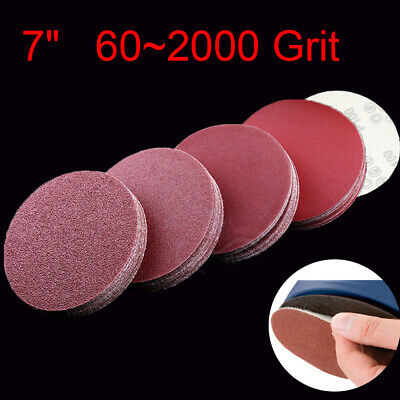 "180mm 7"" Sanding Discs Sandpaper 60 ~ 2000G Abrasive Hook and Loop Sander Pads"
