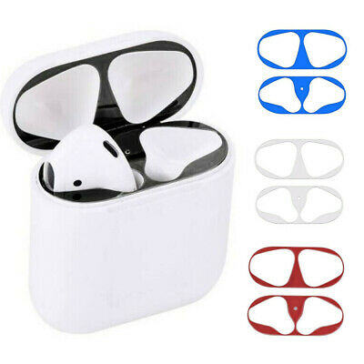Metal Dust Guard Protective Sticker Shell Skin For Airpods Earphone Protectors