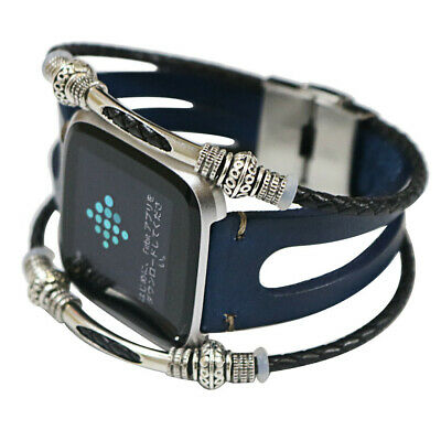 Replacement Leather Wristband Band Strap Bracelet For Fitbit Versa/Versa Lite !