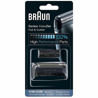 Braun 10B/20B Electric Shaver Replacement Foil & Cutter Series 1 CruZer, Black