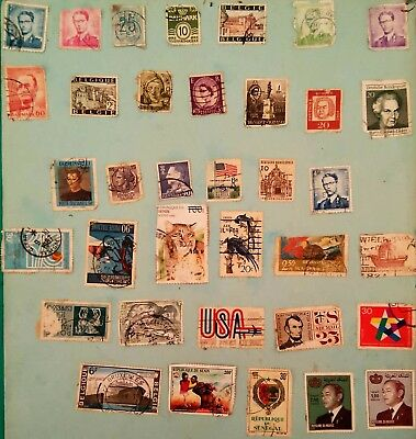 Stamps collection Of 36 Mixed rare Antique & Vintage Postage stamps