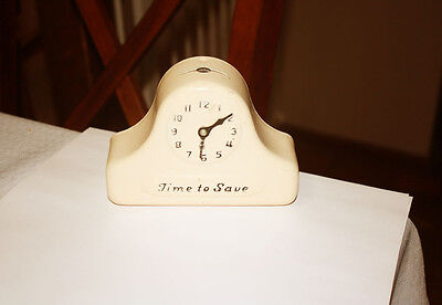 Vintage Still Bank Time to Save Clock With Movable Hands