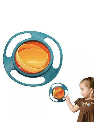 Enthusiastic Anti Spill Bowl Baby Kid 360 Degree Rotary Bowl Anti-spill Gravity Feeding Bowls Cups, Dishes & Utensils