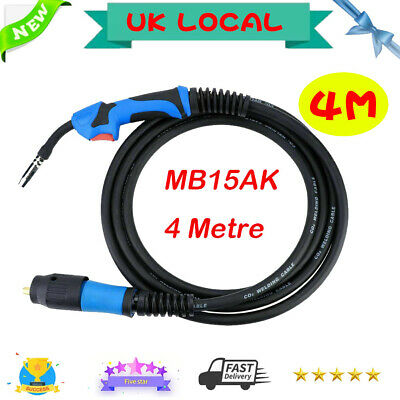 MIG Welding Torch MB15AK Euro Standard EU Connector 4M Conversion Kit for Welder