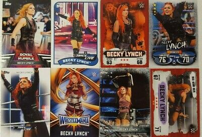 WWE  BECKY LYNCH  trading Card  LOT US + UK no doubles