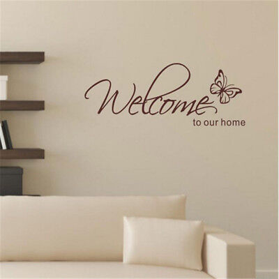 Welcome To Our Home Wall Stickers Living Room Vinyl Art Decals Home Decoration