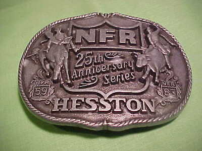 Vintage NFR 25th Anniversary Series NFR 59 Hesston Belt Buckle First Edition