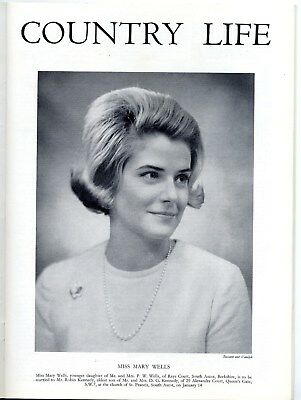 1966 COUNTRY LIFE Magazine MARY WELLS KENNEDY Rays Court Ascot LYNDON HALL 6363