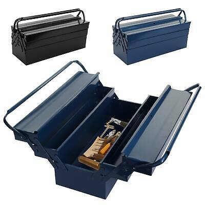"Heavy Duty 21"" Metal Cantilever 5 Tray Toolbox Storage Tool Box Blue & Black"