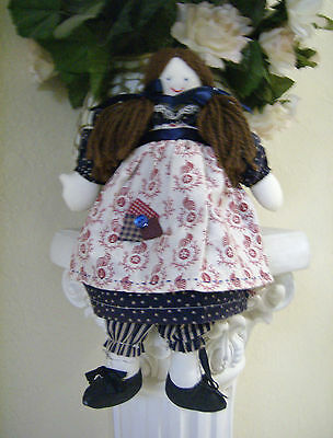 Hand Made Rag Doll Country Folk Art Collectable Adorable