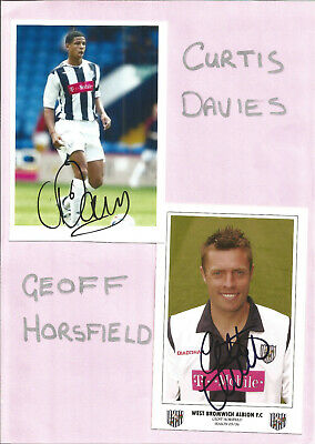 Football Autographs Curtis Davies & Geoff Horsfield Signed Pictures F539