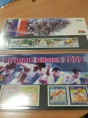 Irish Stamps Olympic Games 2000 & Tour de France 1998