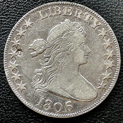 1806 Draped Bust Half Dollar 50c High Grade XF Details Rare Early Coin #15234