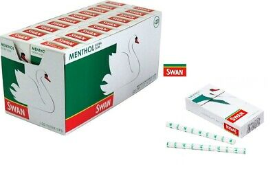SWAN Extra Slim Menthol Cigarette Smoking Filter Tips 120 per pack