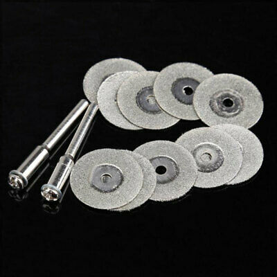 10Pcs Diamond Cutting Disc Saw Blade Grinding Wheel Set Rotary Tool Circular
