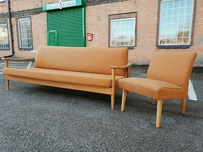 Vintage Mid Century GUY ROGERS Sofa & Chair 1960s Day Bed with storage section