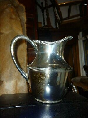 Large Vintage Silver Plated Helmet Shape Jug Or Pitcher