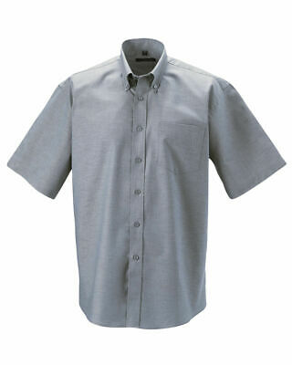 943M 43-44 cm Size XL Russell Collection Mens Short Sleeve Shirt