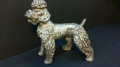 Extremely Rare! Antique Sterling Silver 925/1000 Poodle Dog Figurine Statue