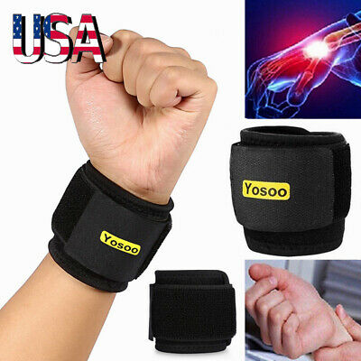 Yosoo Neoprene Silicon Hand Palm Wrist Brace Support Weight Lifting Strap Wrap