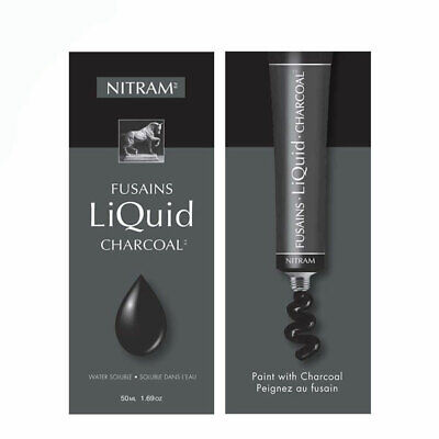 Nitram Fusains Liquid Charcoal 50ml Tube