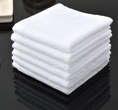 2 Dozen White Washcloth 100% Cotton Heavy Washcloths 12X12 Star Brand