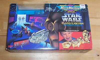 STaR WaRS Micro Machines C-3PO Cantina Loose with Original Box Galoob