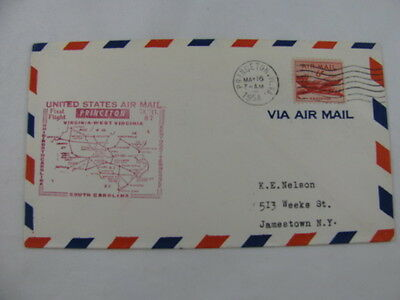 FFC Flight Air Mail A.M. 87 Plane Princeton West Virginia Cincinnati Ohio 1954