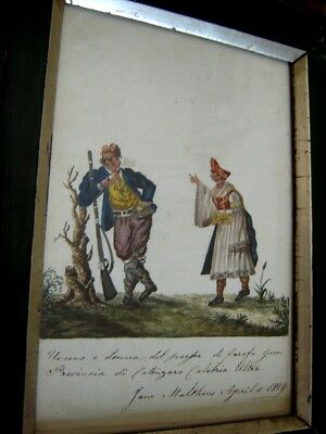 Greek Historical Imporance W/C Early 19th Century, Signed, Rare.