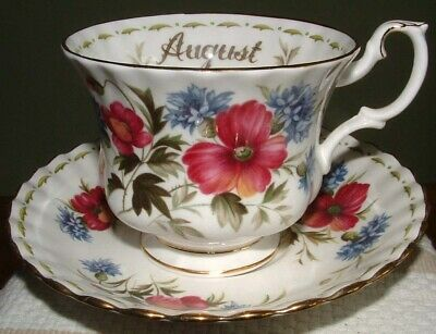 Royal Albert Flower of the Month August Poppy cup & saucer