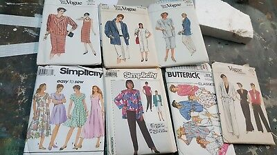 *Vintage* Lot of 7 Sewing Patterns - McCall, Simplicity, Butterick