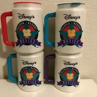 Disney Wolrd All Star Movies Resort Collectible Plastic Mugs Tumblers Travel Cup