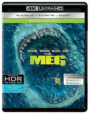 The Meg (4K Blu-ray + Blu-ray 3D + Blu-ray) (Region Free) (3 Disc) (2018) (NEW)