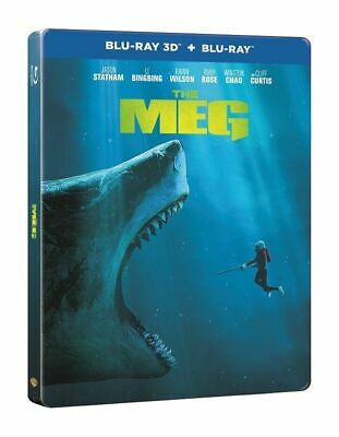 The Meg (STEELBOOK) (2018) (Blu-ray 3D + Blu-ray) (Region Free) (2018) (NEW)